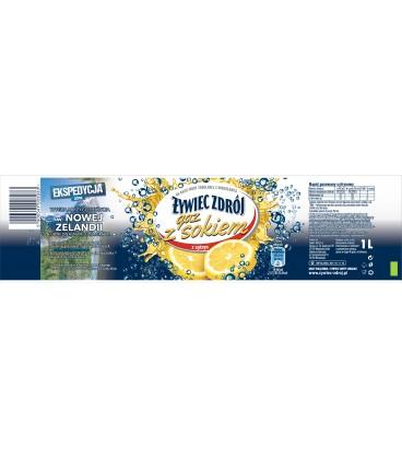 Żywiec Zdrój Gaz z Sokiem gazowany o smaku cytrynowym 1 l