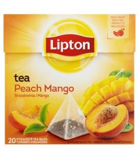 Lipton Brzoskwinia i Mango Herbata czarna aromatyzowana 36 g (20 torebek)