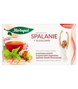 Herbapol Spalanie + oczyszczanie Suplement diety Herbata Pu-erh z dodatkiem ziół 40 g (20 saszetek)
