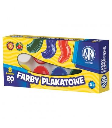 Astra Farby plakatowe 8 kolorów po 20 ml