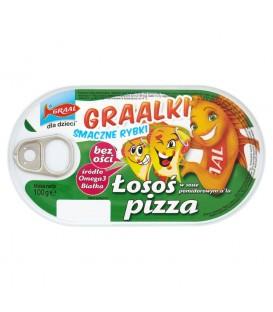 GRAAL Graalki Smaczne rybki Łosoś w sosie pomidorowym a'la pizza 100 g
