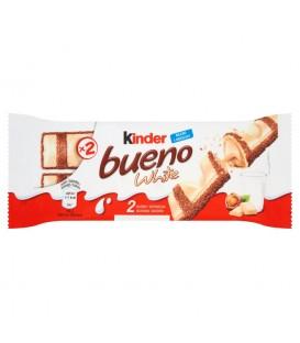 Kinder Bueno White Wafel pokryty białą czekoladą wypełniony nadzieniem 39 g (2 batony)