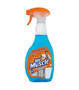 Mr Muscle 5in1 Płyn do szyb i innych powierzchni niebieski Rozpylacz 500 ml