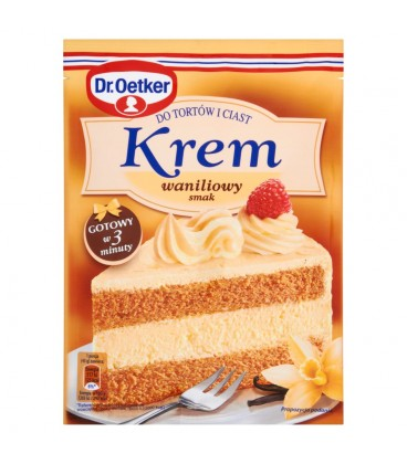 Dr. Oetker Krem do tortów i ciast smak waniliowy 120 g