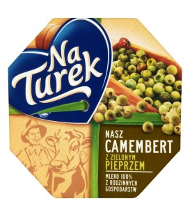 NaTurek Nasz Camembert z zielonym pieprzem Ser 120 g