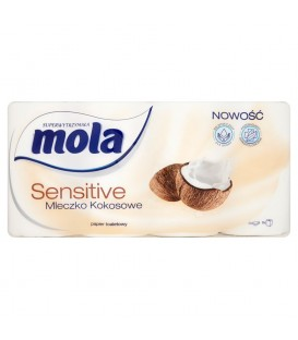 Mola Sensitive Mleczko Kokosowe Papier toaletowy 8 rolek