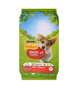 Friskies Vitafit Mini Menu z wołowiną Pełnoporcjowa karma dla dorosłych małych psów do 10 kg 1,5 kg
