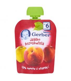 Gerber Deserek Jabłko brzoskwinia po 6 miesiącu 90 g