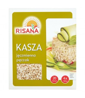 Risana Kasza jęczmienna pęczak 400 g (4 torebki)