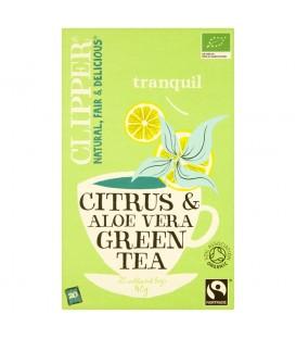 Clipper Herbata zielona z aloesem organiczna 40 g (20 torebek)