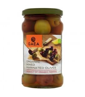 Gaea Organiczne oliwki mieszane marynowane z pestkami 300 g