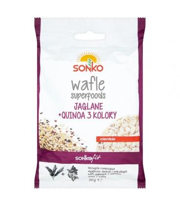 Sonko Fit Wafle superfoods jaglane + quinoa 3 kolory 30 g