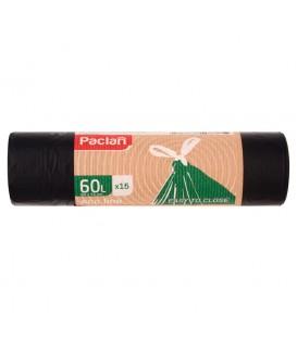 Paclan eco line Worki na śmieci 60 l 15 sztuk