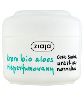 Ziaja Krem bio aloes nieperfumowany cera sucha wrażliwa normalna 50 ml