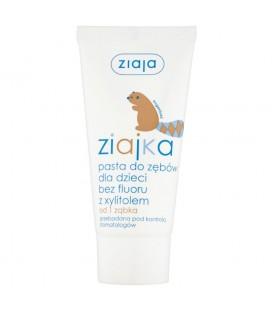 Ziaja Ziajka Pasta do zębów dla dzieci bez fluoru z xylitolem od 1 ząbka 50 ml