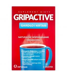 Gripactive Gardło i krtań Suplement diety 6 saszetek