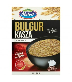 Melvit Premium Kasza bulgur 400 g (4 torebki)