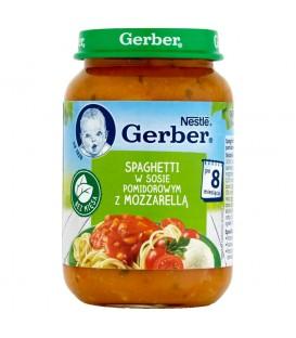 Gerber Spaghetti w sosie pomidorowym z mozzarellą po 8 miesiącu 190 g
