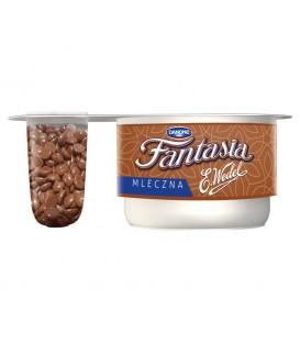 Danone Fantasia mleczna Jogurt kremowy z czekoladą mleczną 104 g