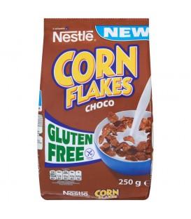 Nestlé Corn Flakes Choco Płatki śniadaniowe o smaku czekoladowym 250 g