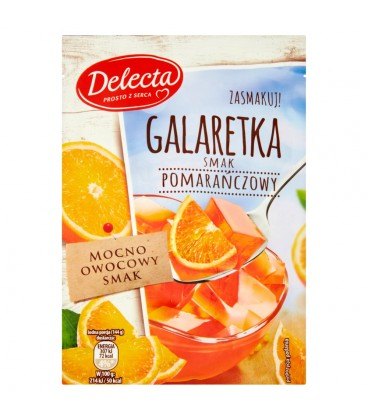 Delecta Galaretka smak pomarańczowy 75 g