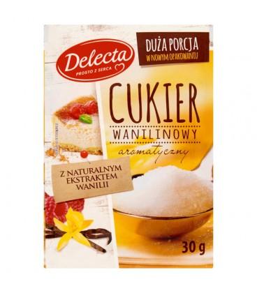 Delecta Cukier wanilinowy z naturalnym ekstraktem wanilii 30 g