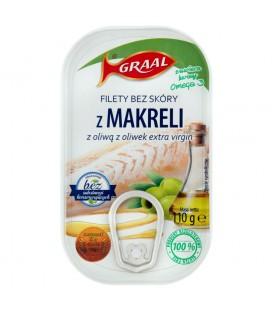 GRAAL Filety bez skóry z makreli z oliwą z oliwek extra virgin 110 g