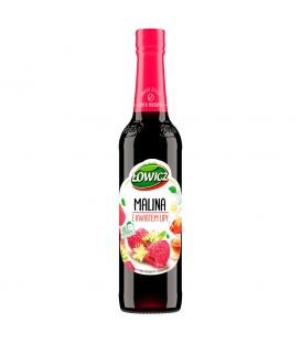 Łowicz Syrop o smaku malinowym z kwiatem lipy 400 ml