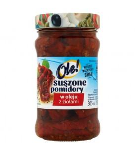 Ole! Suszone pomidory w oleju z ziołami 270 g