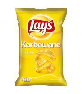 Lay's Karbowane Solone Chipsy ziemniaczane 140 g