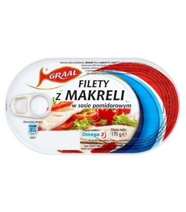 GRAAL Filety z makreli w sosie pomidorowym 170 g