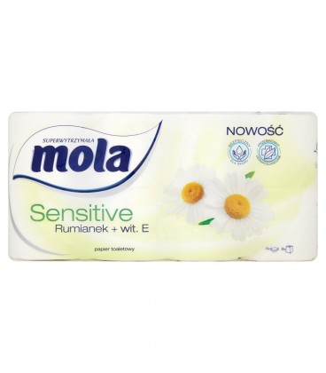 Mola Sensitive Rumianek + wit. E Papier toaletowy 8 rolek