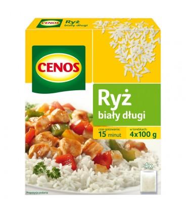 Cenos Ryż biały długi 400 g (4 torebki)