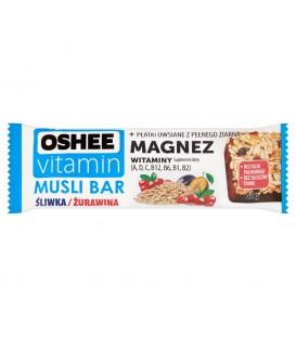 Oshee Vitamin Baton zbożowy śliwka żurawina Suplement diety 40 g