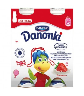 Danone Danonki Jogurt truskawka 400 g (4 sztuki)
