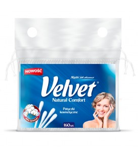 Velvet Natural Comfort Patyczki kosmetyczne 160 sztuk