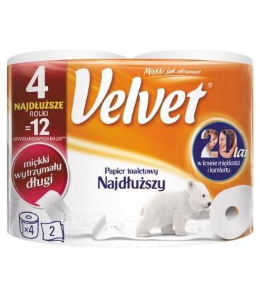 Velvet Najdłuższy Papier toaletowy 4 rolki