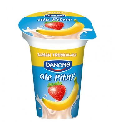 Danone ale Pitny Truskawka banan Napój jogurtowy 300 g