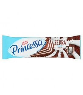 Princessa Zebra Kakaowy wafel przekładany kremem mlecznym 37 g