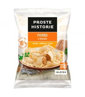 Proste Historie Pierogi z mięsem 450 g (14 sztuk)