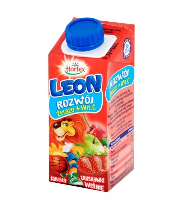 Hortex Leon Jabłka truskawki wiśnie Napój wieloowocowy 200 ml