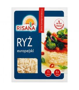 Risana Ryż europejski 400 g (4 torebki)