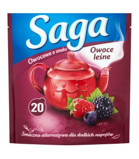 Saga Herbatka owocowa o smaku owoce leśne 34 g (20 torebek)