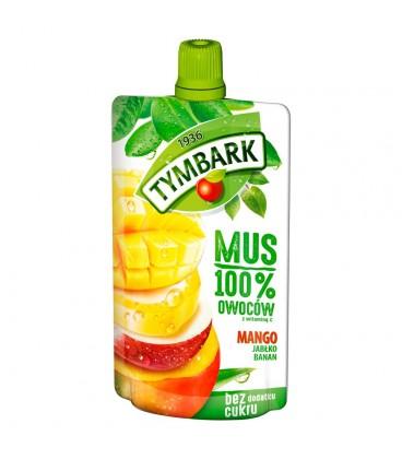 Tymbark Mus 100% mango jabłko banan 120 g