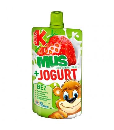 Kubuś Mus + Jogurt banan truskawka jabłko 80 g