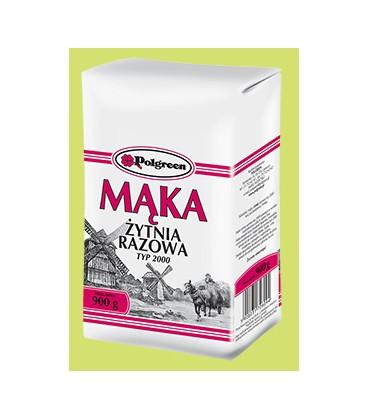 Polgreen Mąka Żytnia Razowa 900g.