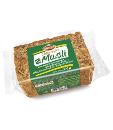 Oskroba chleb żytni razowy z musli krojony 300g