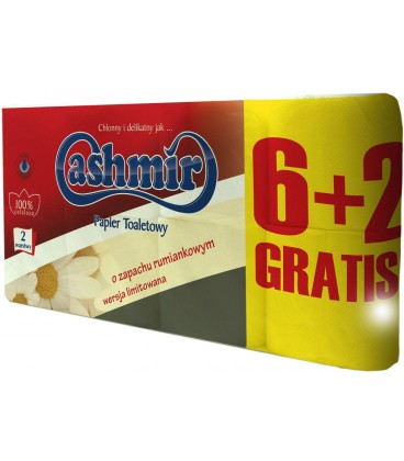 Cashmir papier toaletowy rumianek 6+2