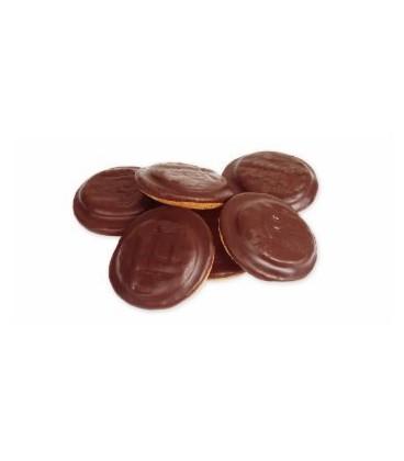 Biszkopty z galaretką wieloowocową w czekol.135g