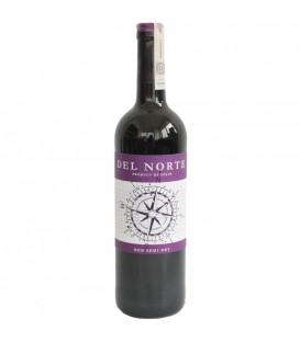 Del Norte wino czerwone półwytrawnw 0,75L